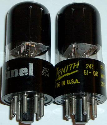 NATIONAL UNION manufactured tubes with 247 factory EIA code.