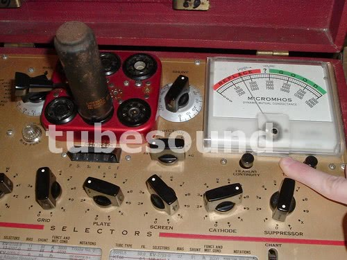 Weak 6N6 Triode as tested with calibrated Hickok 6000