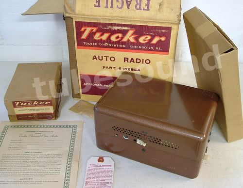 NOS NIB NEW Tucker Torpedo Radio