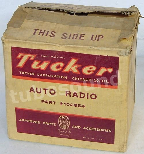 Tucker Torpedo radio - front of box