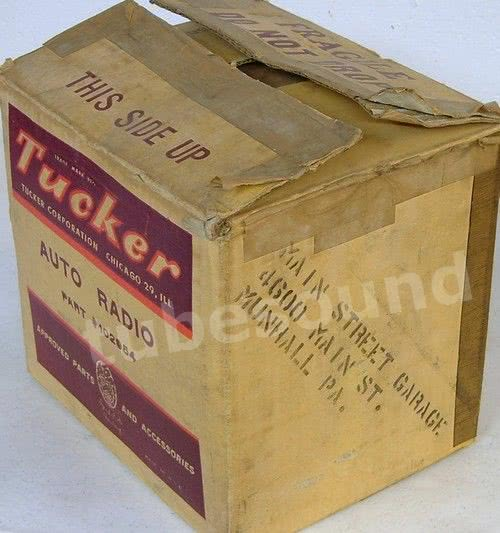 Tucker Torpedo radio - local Tucker dealer address