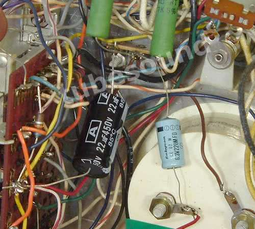 BK 707, new capacitors installed