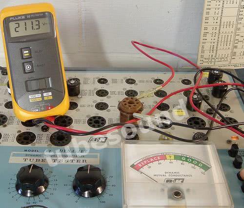BK 707, plate voltage