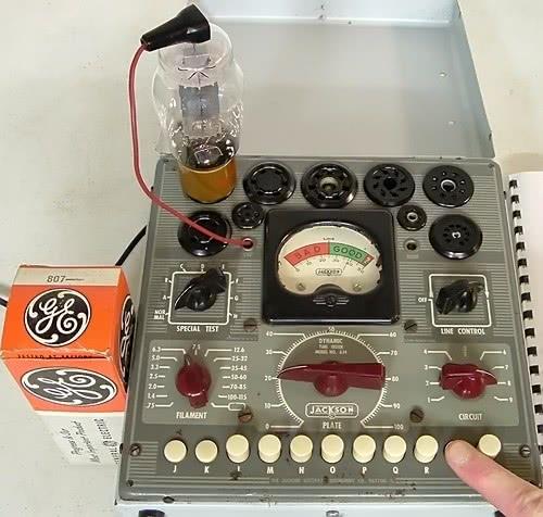 Jackson 634 testing new 807 output tube