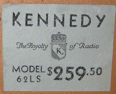 Price of Kennedy 62LS