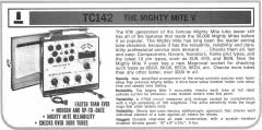 Sencore TC162 Mighty Mite factory advertisement