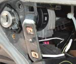 Yellow Passlock wire cut, and a toggle switch installed in series.