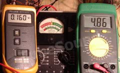 Full scale meter testing example (NRI 70 tube tester)