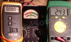 Half scale meter testing example (NRI 70 tube tester)