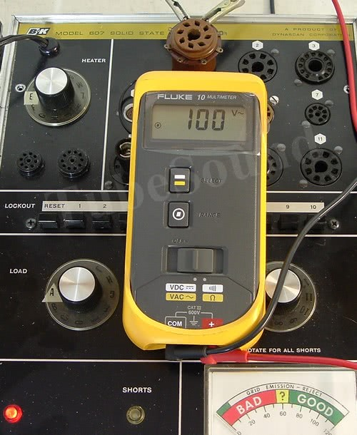 Electrical Tester For Shorts : Tubesound archive b k  tube tester