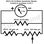 Paco 10-12 meter sensitivity (shunt resistors) for Positions 1,2,6,7.