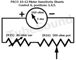 Paco 10-12 meter sensitivity (shunt resistors) for Positions 3,4,5.