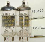 12AX7A tubes - incorrectly factory marked as E283CC
