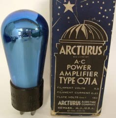 NOS Arcturus blue-glass 071A tube